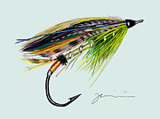 Lure Drawings Prints - Green Highlander Print by Jean Pacheco Ravinski