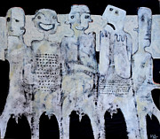 Black People Mixed Media Prints - GREGO No.1 Print by Mark M  Mellon