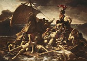 Medusa Framed Prints - GÉricault, Théodore 1791-1824. The Raft Framed Print by Everett