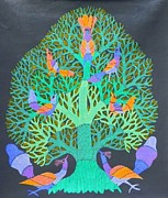 Gond Art Paintings - Gst 22 by Gareeba Singh Tekam