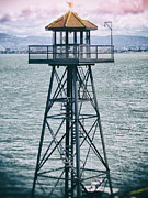 Alcatraz Metal Prints - Guard Tower Alcatraz Metal Print by Daniel Hagerman