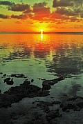 Florida Keys Photos - Gulf Sunset by Benjamin Yeager