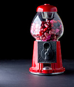 Hearts Posters - Gumball Machine Poster by Edward Fielding