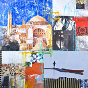 Paper Mixed Media - Hagia Sophia istanbul by Elena Nosyreva