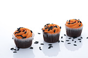 Holidays And Celebrations Prints - Halloween Cupcakes Print by Juli Scalzi