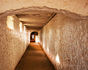 Hallway Of Brick And Stone Monticello Virginia Fine Art Print by Artist and Photographer Laura Wrede