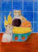 Jeanette Kabat - Hamsters in Fruit Bowl