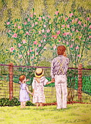 Fathers Day Drawings - Hand In Hand by Linda Simon