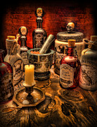 Potions Framed Prints - Happy Halloween II Framed Print by Lee Dos Santos