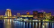 Tampa Skyline Photos - Harbor Island Nightlights by Marvin Spates