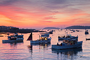 Lobster Boat Framed Prints - Harbor Sunrise Framed Print by Patrick Downey