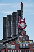 Iconic Guitar Posters - Hard Rock Cafe  Poster by Susan Candelario