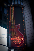 Hard Rock Cafe Prints - Hard Rock Guitar NYC Print by Teresa Mucha