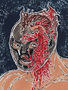 Ironman Paintings - Hardcore Masked Wrestler by Matt Molleur