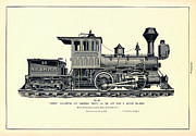 Antique Digital Art Posters - Harlem Locomotive Poster by Gary Grayson