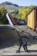 Colorado Railroad Museum Prints - Harp Switchstand Print by Tim Mulina
