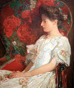 Hassam Framed Prints - Hassams The Victorian Chair Framed Print by Cora Wandel