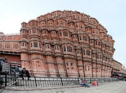 Old Home Place Photos - Hawa Mahal. India street life by Oleksii Vovk