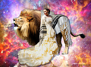 Lion Of Judah Posters - He sings over you Poster by Dolores DeVelde