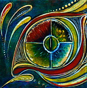 Healing Art Paintings - Healer Spirit Eye by Deborha Kerr