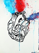 Line Work Mixed Media - Heart Beat by Robert Gaunce