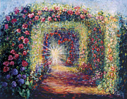 Ithaca Painting Prints - Heart Trellis Print by Shari Silvey