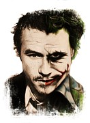 Ledger; Book Art - Heath as the Joker by Sheena Pike