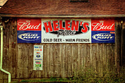 Wooden Building Posters - Helens Place Poster by Joan Carroll