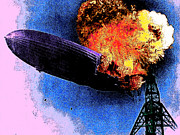 Flying Craft Prints - Hindenburg 20130605 Print by Wingsdomain Art and Photography