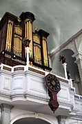 Old North Church Posters - Historic Organ Poster by John Rizzuto