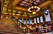 Train Stations Photos - Hoboken Terminal by Anthony Sacco