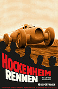 Rally Posters - Hockenheim Rennen 1932 Poster by Nomad Art And  Design