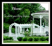 Life Lessons Posters - HOME is where your Story Begins Poster by Gail Matthews