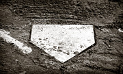 Baseball Art Photo Metal Prints - Home Plate Metal Print by John Rizzuto