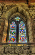 Stained Glass Window Photos - Hope of The Glory of God by Ian Mitchell