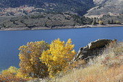Horsetooth Reservoir Metal Prints - Horsetooth Reservoir Autumn Metal Print by Michael Gourley