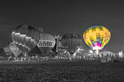 Indianapolis Art - Hot Air Balloon OW Color by David Haskett