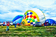 Inflation Photo Prints - Hot Air Balloons Print by Darren Fisher