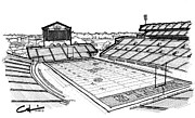 Stadiums Drawings - Hotty Toddy by Calvin Durham