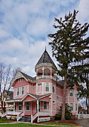 Real-estate Prints - House - Flemington NJ - The Pink Lady Print by Mike Savad