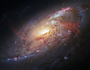 Hubble Photos - Hubble view of M 106 by Adam Romanowicz