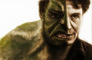 Superhero Mixed Media - Hulk Transition by Sheena Pike