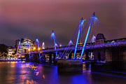 Charing Cross Framed Prints - Hungerford Bridge 2 Framed Print by Stuart Gennery