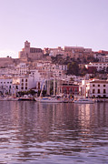 Dalt Prints - Ibiza old town in early morning light Print by Rosemary Calvert