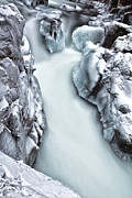 Winter Scenes Framed Prints - Ice Creek Cascade Framed Print by Darren  White