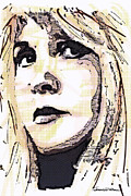Singer Drawings - ICONS - Stevie Nicks by Jerrett Dornbusch