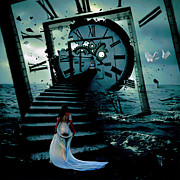 Art Print Digital Art Posters - If I Could Go Back In Time Poster by Byron Fli Walker
