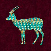Animal Art Digital Art - Ikat Antelope by Budi Satria Kwan