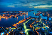 Fototrav Print - Illuminated Kaohsiung city harbor at...