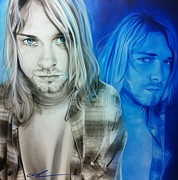 Kurt Cobain Framed Prints - Im Real Good at Hating Framed Print by Christian Chapman Art